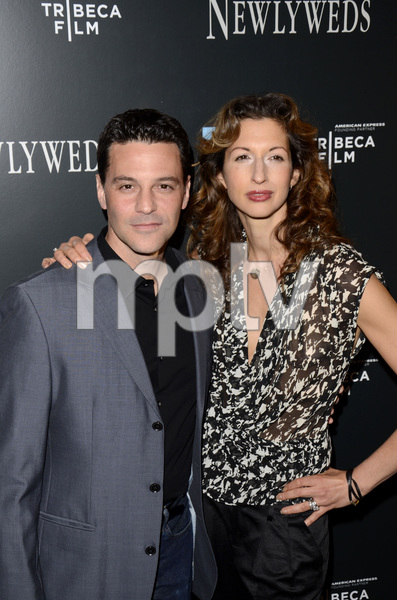 """Newlyweds"" Premiere David Alan Basche and Alysia Reiner1-11-2012 / Crosby Street Hotel / New York NY / Tribeca Film / Photo by Eric Reichbaum - Image 24148_0202"