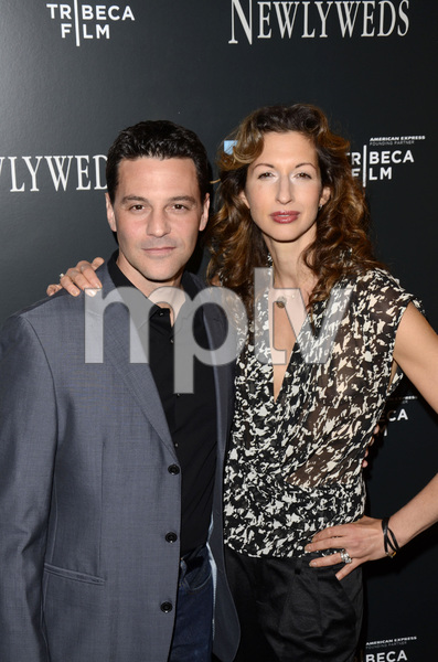 """Newlyweds"" Premiere David Alan Basche and Alysia Reiner1-11-2012 / Crosby Street Hotel / New York NY / Tribeca Film / Photo by Eric Reichbaum - Image 24148_0203"