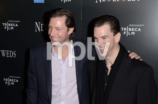 """Newlyweds"" Premiere Ed Burns and Michael McGlone1-11-2012 / Crosby Street Hotel / New York NY / Tribeca Film / Photo by Eric Reichbaum - Image 24148_0247"