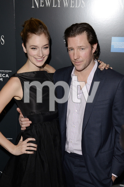 """Newlyweds"" Premiere Caitlin Fitzgerald and Ed Burns1-11-2012 / Crosby Street Hotel / New York NY / Tribeca Film / Photo by Eric Reichbaum - Image 24148_0261"
