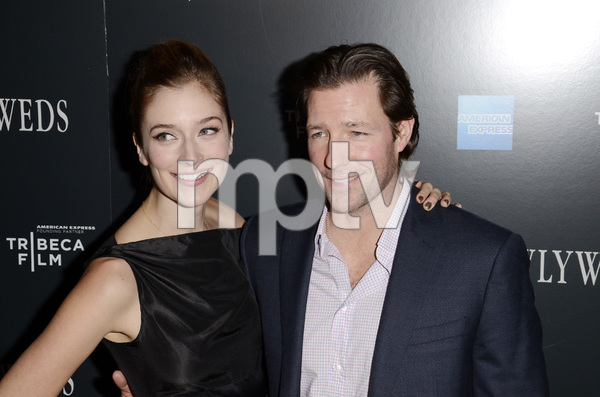"""""""Newlyweds"""" Premiere Caitlin Fitzgerald and Ed Burns1-11-2012 / Crosby Street Hotel / New York NY / Tribeca Film / Photo by Eric Reichbaum - Image 24148_0265"""