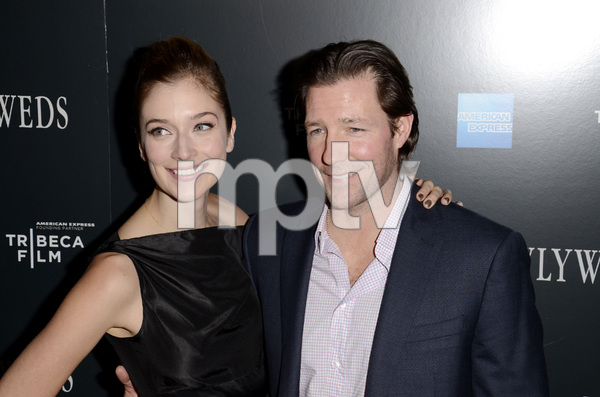 """Newlyweds"" Premiere Caitlin Fitzgerald and Ed Burns1-11-2012 / Crosby Street Hotel / New York NY / Tribeca Film / Photo by Eric Reichbaum - Image 24148_0266"
