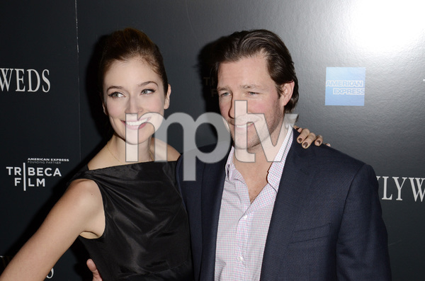 """Newlyweds"" Premiere Caitlin Fitzgerald and Ed Burns1-11-2012 / Crosby Street Hotel / New York NY / Tribeca Film / Photo by Eric Reichbaum - Image 24148_0267"