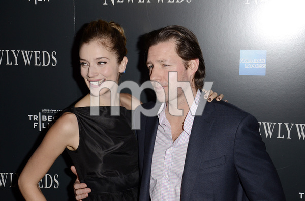 """Newlyweds"" Premiere Caitlin Fitzgerald and Ed Burns1-11-2012 / Crosby Street Hotel / New York NY / Tribeca Film / Photo by Eric Reichbaum - Image 24148_0269"