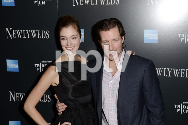"""Newlyweds"" Premiere Caitlin Fitzgerald and Ed Burns1-11-2012 / Crosby Street Hotel / New York NY / Tribeca Film / Photo by Eric Reichbaum - Image 24148_0271"