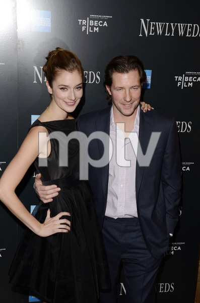 """Newlyweds"" Premiere Caitlin Fitzgerald and Ed Burns1-11-2012 / Crosby Street Hotel / New York NY / Tribeca Film / Photo by Eric Reichbaum - Image 24148_0272"