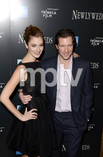 """""""Newlyweds"""" Premiere Caitlin Fitzgerald and Ed Burns1-11-2012 / Crosby Street Hotel / New York NY / Tribeca Film / Photo by Eric Reichbaum - Image 24148_0273"""
