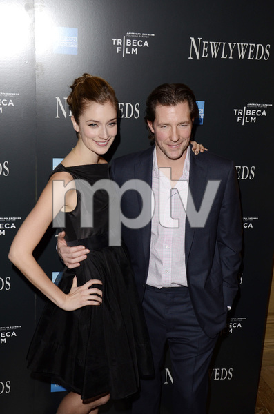 """Newlyweds"" Premiere Caitlin Fitzgerald and Ed Burns1-11-2012 / Crosby Street Hotel / New York NY / Tribeca Film / Photo by Eric Reichbaum - Image 24148_0274"