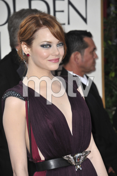 """The Golden Globe Awards - 69th Annual"" (Arrivals) Emma Stone1-15-2012 © 2012 Jean Cummings - Image 24150_0226"