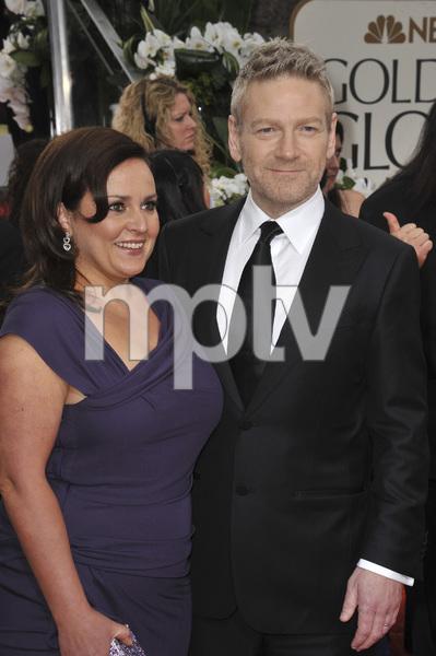 """The Golden Globe Awards - 69th Annual"" (Arrivals) Kenneth Branagh, Lindsay Brunnock1-15-2012 © 2012 Jean Cummings - Image 24150_0318"
