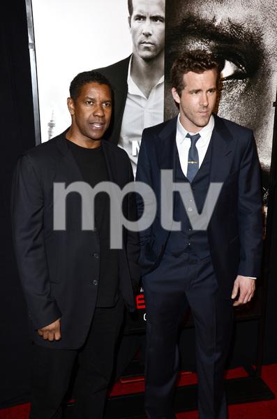 """Safe House"" PremiereDenzel Washington, Ryan Reynolds2-7-2012 / SVA Theater / Universal Pictures / New York NY / Photo by Eric Reichbaum - Image 24172_0324"