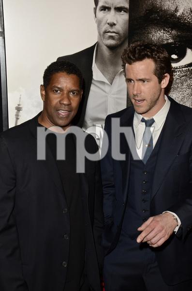 """Safe House"" PremiereDenzel Washington, Ryan Reynolds2-7-2012 / SVA Theater / Universal Pictures / New York NY / Photo by Eric Reichbaum - Image 24172_0330"
