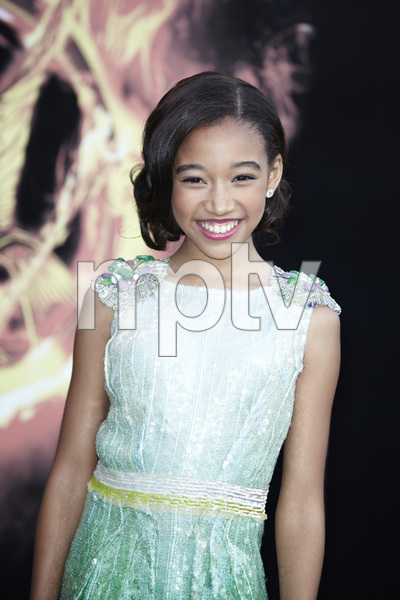 """""""The Hunger Games"""" PremiereAmandla Stenberg3-12-2012 / Nokia Theater LA Live / Lionsgate / Los Angeles CA / Photo by Benny Haddad - Image 24191_0074"""