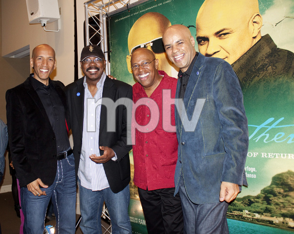 The Mendes Brothers (John Mendes, Ramiro Mendes) with Billy Osborne and Harvey Mason at The Museum of Tolerance in May of 2010 © 2010 Bobby Holland - Image 24242_0003