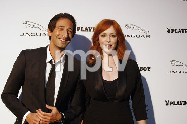 """Jaguar and Playboy Magazine VIP Reception""Adrien Brody, Christina Hendricks08-17-2012 / Pebble Beach, California© 2012 Ron Avery - Image 24248_0012"