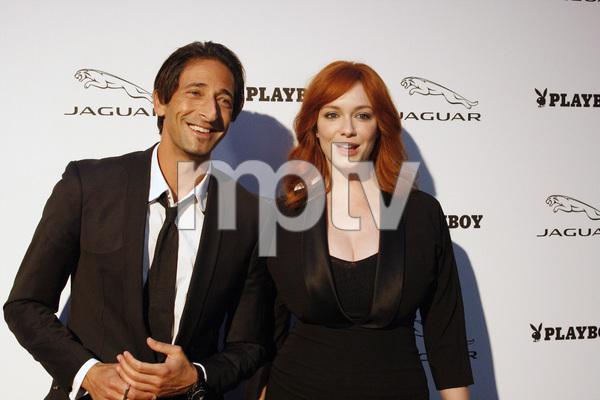 """Jaguar and Playboy Magazine VIP Reception""Adrien Brody, Christina Hendricks08-17-2012 / Pebble Beach, California© 2012 Ron Avery - Image 24248_0012"