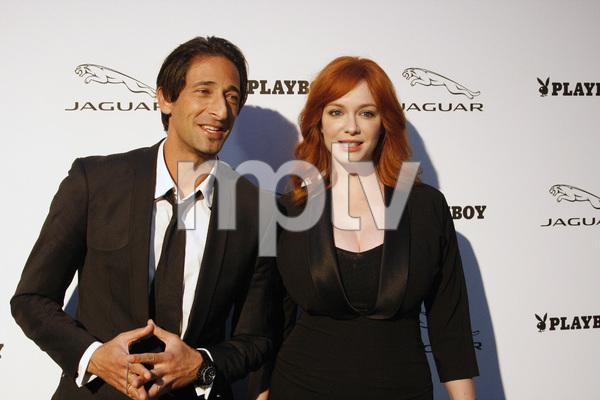 """Jaguar and Playboy Magazine VIP Reception""Adrien Brody, Christina Hendricks08-17-2012 / Pebble Beach, California© 2012 Ron Avery - Image 24248_0014"