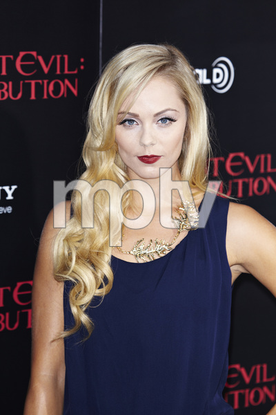 """Resident Evil: Retribution"" Premiere Laura Vandervoort9-12-2012 / Regal Cinemas L.A. Live / Screen Gems / Los Angeles CA / Photo by Benny Haddad - Image 24252_0013"
