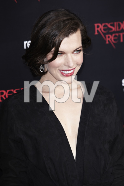 """Resident Evil: Retribution"" Premiere Milla Jovovich9-12-2012 / Regal Cinemas L.A. Live / Screen Gems / Los Angeles CA / Photo by Benny Haddad - Image 24252_0092"