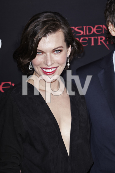 """Resident Evil: Retribution"" Premiere Milla Jovovich9-12-2012 / Regal Cinemas L.A. Live / Screen Gems / Los Angeles CA / Photo by Benny Haddad - Image 24252_0100"