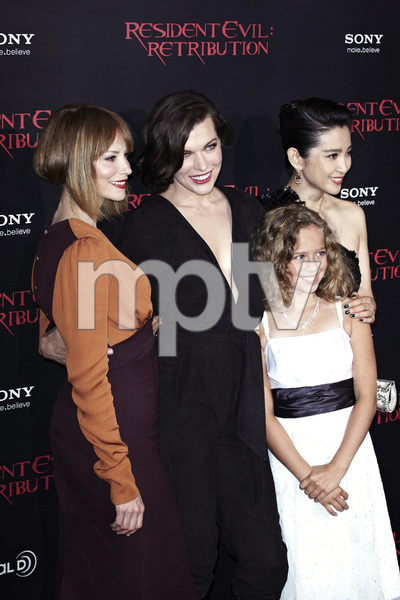 """Resident Evil: Retribution"" Premiere Milla Jovovich, Sienna Guillory, Aryana Engineer, Bingbing Li9-12-2012 / Regal Cinemas L.A. Live / Screen Gems / Los Angeles CA / Photo by Benny Haddad - Image 24252_0110"