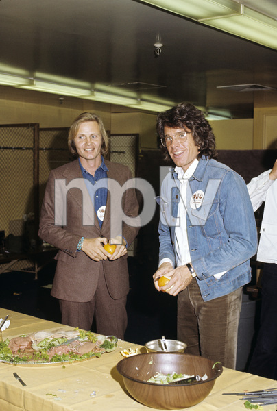 Jon Voight and Warren Beatty at a George McGovern rally1972© 1978 Paul Slaughter - Image 24262_0050