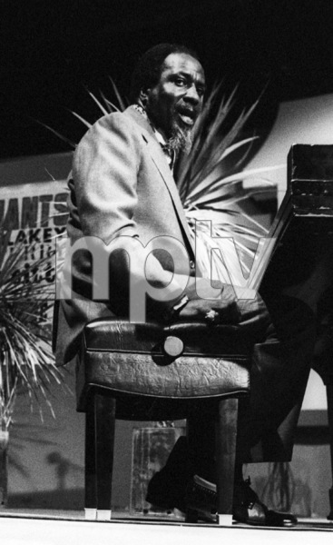 Thelonious Monk playing piano at the Monterey Jazz Festival1972© 1978 Paul Slaughter - Image 24262_0113