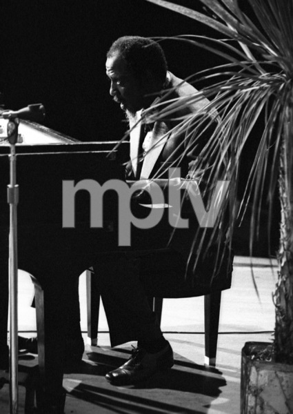 Thelonious Monk playing piano at the Monterey Jazz Festival1972© 1978 Paul Slaughter - Image 24262_0114