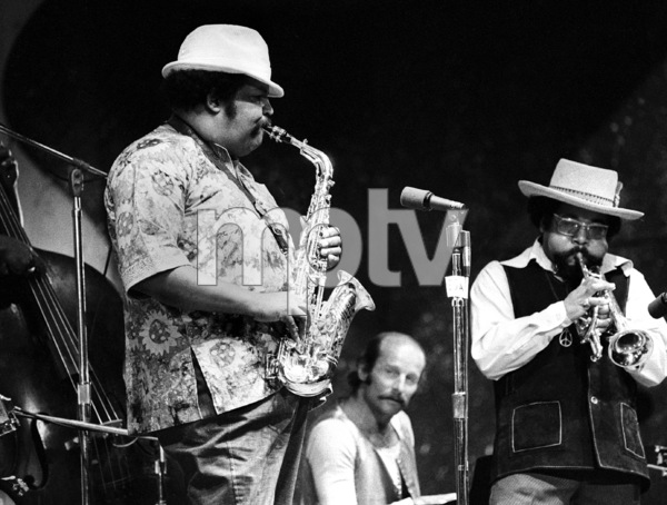 """Nat and Julian Edwin """"Cannonball"""" Adderley at the Monterey Jazz Festival1970© 1978 Paul Slaughter - Image 24262_0137"""