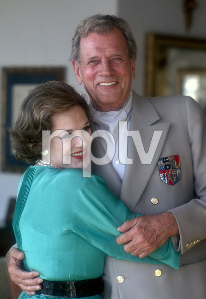 Joseph Cotten and Patricia Medina1978© 1978 Paul Slaughter - Image 24262_0288