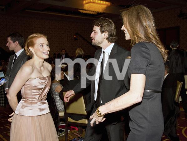 """2013 Writers Guild Awards"" Kathryn Bigelow, Jessica Chastain, Mark Boal02-17-2013 / JW Marriott Hotel / Los Angeles, CA © 2013 Michael Jones - Image 24263_0018"