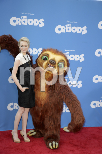 """""""The Croods"""" Premiere Emma Stone 3-10-2013 / AMC Loews Lincoln Square Theater / New York NY / Dreamworks / Photo by Eric Reichbaum - Image 24266_152"""