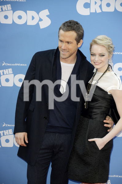 """""""The Croods"""" Premiere Ryan Reynolds, Emma Stone 3-10-2013 / AMC Loews Lincoln Square Theater / New York NY / Dreamworks / Photo by Eric Reichbaum - Image 24266_176"""