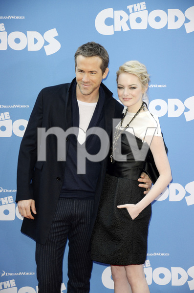 """""""The Croods"""" Premiere Ryan Reynolds, Emma Stone 3-10-2013 / AMC Loews Lincoln Square Theater / New York NY / Dreamworks / Photo by Eric Reichbaum - Image 24266_178"""