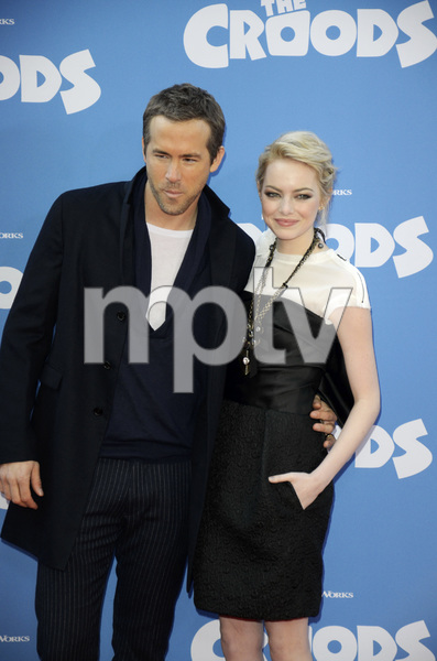 """The Croods"" Premiere Ryan Reynolds, Emma Stone 3-10-2013 / AMC Loews Lincoln Square Theater / New York NY / Dreamworks / Photo by Eric Reichbaum - Image 24266_179"