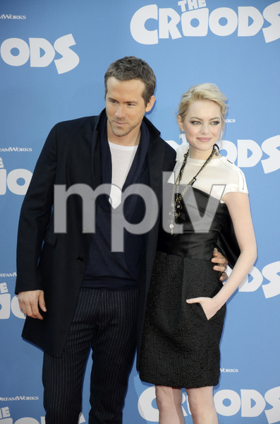 """The Croods"" Premiere Ryan Reynolds, Emma Stone 3-10-2013 / AMC Loews Lincoln Square Theater / New York NY / Dreamworks / Photo by Eric Reichbaum - Image 24266_180"