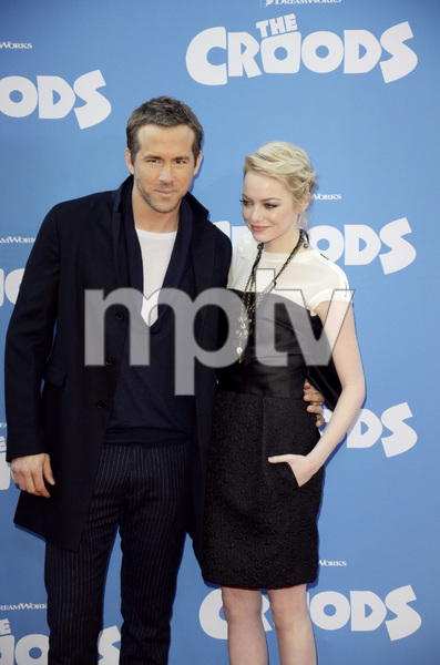 """The Croods"" Premiere Ryan Reynolds, Emma Stone 3-10-2013 / AMC Loews Lincoln Square Theater / New York NY / Dreamworks / Photo by Eric Reichbaum - Image 24266_181"