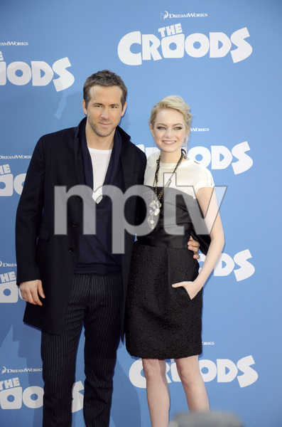 """""""The Croods"""" Premiere Ryan Reynolds, Emma Stone 3-10-2013 / AMC Loews Lincoln Square Theater / New York NY / Dreamworks / Photo by Eric Reichbaum - Image 24266_183"""
