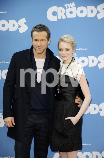 """The Croods"" Premiere Ryan Reynolds, Emma Stone 3-10-2013 / AMC Loews Lincoln Square Theater / New York NY / Dreamworks / Photo by Eric Reichbaum - Image 24266_186"