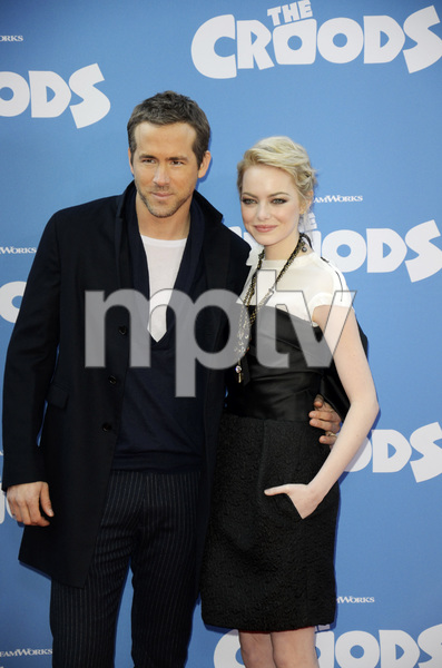 """""""The Croods"""" Premiere Ryan Reynolds, Emma Stone 3-10-2013 / AMC Loews Lincoln Square Theater / New York NY / Dreamworks / Photo by Eric Reichbaum - Image 24266_187"""