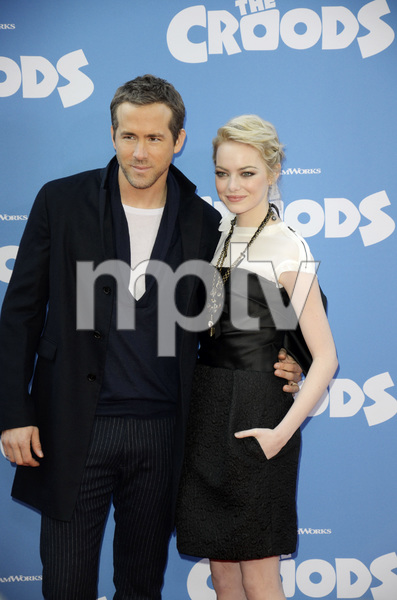 """""""The Croods"""" Premiere Ryan Reynolds, Emma Stone 3-10-2013 / AMC Loews Lincoln Square Theater / New York NY / Dreamworks / Photo by Eric Reichbaum - Image 24266_188"""
