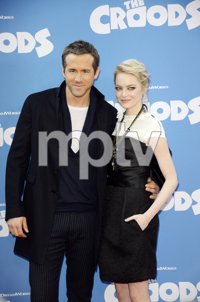 """""""The Croods"""" Premiere Ryan Reynolds, Emma Stone 3-10-2013 / AMC Loews Lincoln Square Theater / New York NY / Dreamworks / Photo by Eric Reichbaum - Image 24266_189"""
