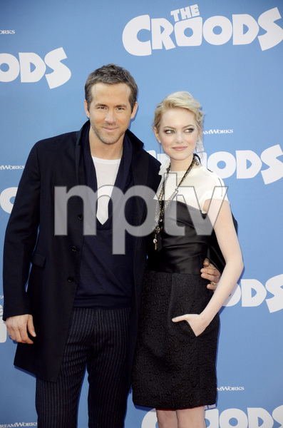"""""""The Croods"""" Premiere Ryan Reynolds, Emma Stone 3-10-2013 / AMC Loews Lincoln Square Theater / New York NY / Dreamworks / Photo by Eric Reichbaum - Image 24266_191"""