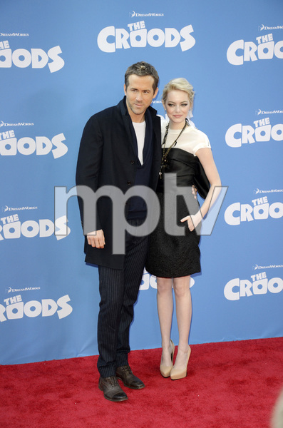 """""""The Croods"""" Premiere Ryan Reynolds, Emma Stone 3-10-2013 / AMC Loews Lincoln Square Theater / New York NY / Dreamworks / Photo by Eric Reichbaum - Image 24266_199"""