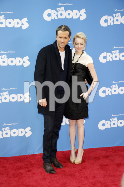"""""""The Croods"""" Premiere Ryan Reynolds, Emma Stone 3-10-2013 / AMC Loews Lincoln Square Theater / New York NY / Dreamworks / Photo by Eric Reichbaum - Image 24266_201"""