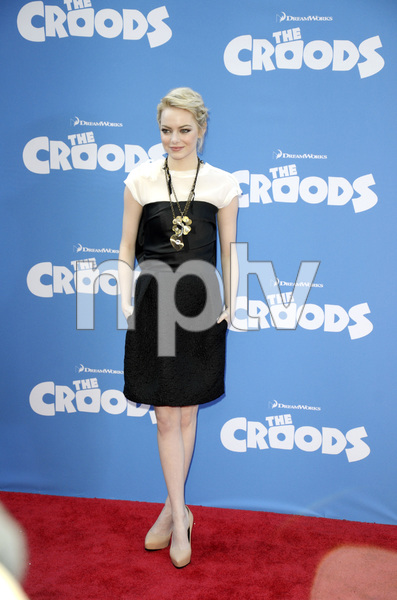 """""""The Croods"""" Premiere Emma Stone 3-10-2013 / AMC Loews Lincoln Square Theater / New York NY / Dreamworks / Photo by Eric Reichbaum - Image 24266_90"""