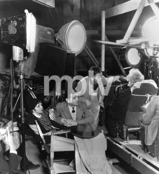 """Frank Capra is shown directing a scene with Claudette Colbert and Clark Gable during the making of """"It Happened One Night"""" 1934 Columbia** I.V. - Image 24287_0064"""