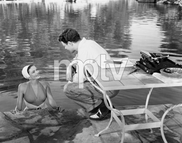 """Cornel Wilde and Gene Tierney in """"Leave Her to Heaven"""" 1945 20th Century Fox** I.V. - Image 24287_0240"""