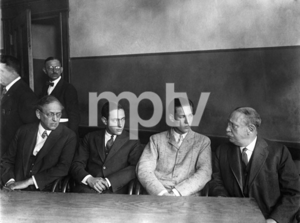 Nathan Leopold and Richard Loeb with their fathers during the trial 1924 ** I.V. - Image 24287_0242