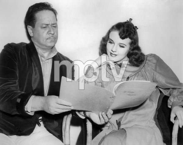 """""""Nice Girl"""" Robert Benchley, Deanna Durbin 1941 Universal PicturesPhoto by Roman Freulich** I.V. - Image 24287_0271"""